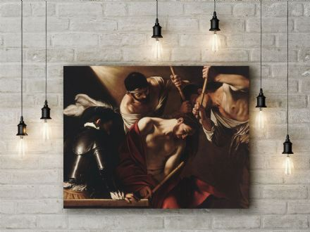 Caravaggio: The Crowning with Thorns.  Fine Art Canvas.